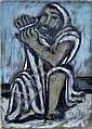 Painting, Ben Zion Weinman, Seated Prophet,  Ben-Zion, Click for value