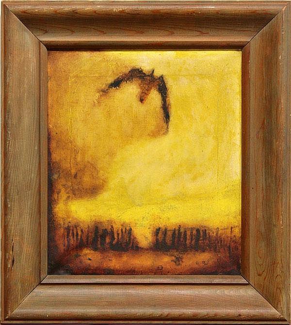 Painting, Ronald Bladen, Sunset and Bird