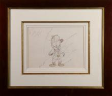 Original Drawings, Bob Clampett, Elmer Fudd and Bugs Bunny