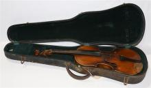 Continental student violin, with hard case, overall:  23