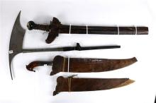 (lot of 4) Tribal weaponry group