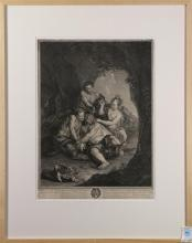 Print, After Antoine Coypel, Silenus and Nymph Aegle
