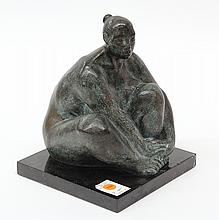 Sculpture, Salvador Jaramillo, Desnudo Maya