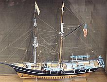 Hitchcock model ship of the Whaling Hermaphrodite Brig 'Viola