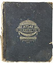Historical Atlas of Alameda County, California, Thompson & West, 1878, Illustrated title page, impressive maps and views of Oakland,...