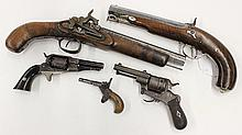 Group of associated pistols and revolvers