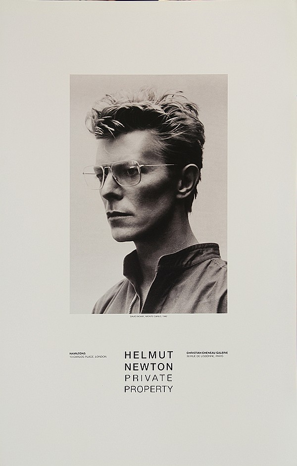 poster helmut newton david bowie monte carlo 1982. Black Bedroom Furniture Sets. Home Design Ideas