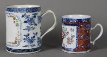 Two Chinese Export Porcelain Tankard