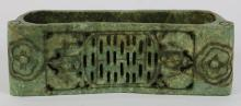 Chinese Carved Serpentine Pillow