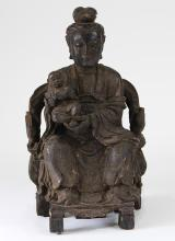 Chinese Wood Figural Carving