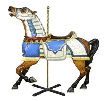 Carmel outer row stander carousel horse with full armor