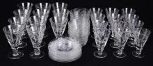 (lot of 47) Collection of English Webb stemware and dessert service