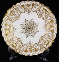 (lot of 10) Coalport gilt decorated cabinet plates