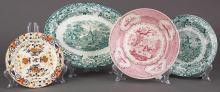 (lot of 4) Josiah Wedgwood and Sons, late 18th-early 19th century, creamware plate, having Imari decoration, together with a Wedgwoo...