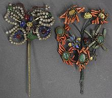 Two Chinese Hair Pin/Ornaments