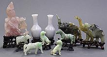 Group of Chinese Stone Figures/Vases