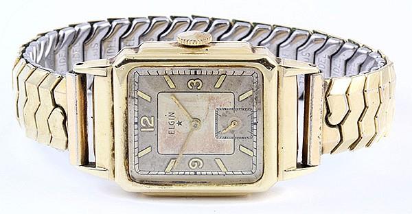 Gentelman's Elgin yellow gold wristwatch