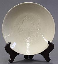 Chinese Glazed and Incised Ceramic Dish