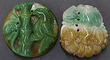 Two Chinese Jadeite Toggles