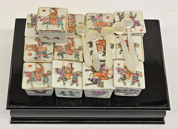 Group of Chinese Small Porcelain Boxes