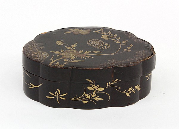 Chinese Lacquered Box with Game Counters
