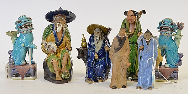 Chinese Ceramic Figures Fu Lions