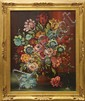 Painting, Still Life with Flowers, signed Viktor