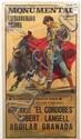 Lithograph Bullfighting poster, Barcelona