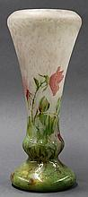 Daum Nancy wheel carved glass vase