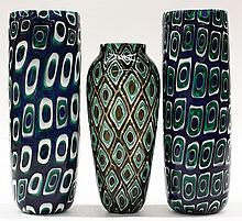 Art glass vases by Michael Nourot (American b.1949)