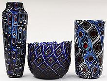 Art glass vases by Michael Nourot