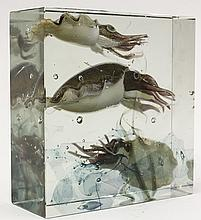 Alfredo Barbini for Pauly Murano glass 'Aquarium Block'