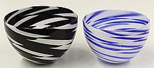 James Nowak art glass bowls