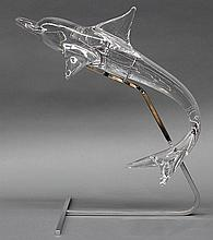 'Dauphin' sculpture by Daum