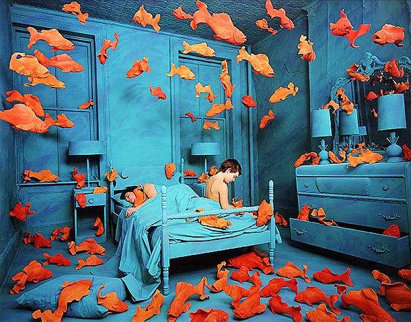Photograph, Sandy Skoglund, Revenge of the Goldfish