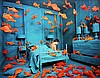 Photograph, Sandy Skoglund, Revenge of the Goldfish
