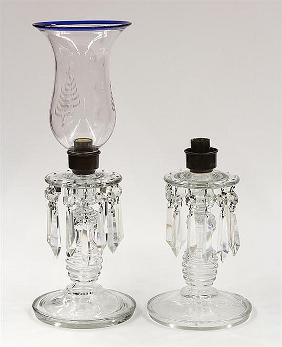 Pair of Russian hurricane lamps