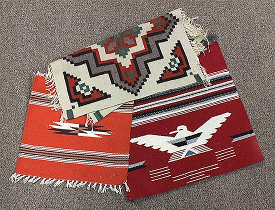 (lot of 3) Native textile group