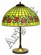 American Arts and Crafts leaded glass table lamp, attributed to Unique Lamp Company circa 1920, the 18
