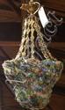 Italian gilt bronze and glass chandelier
