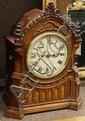 Continental oak mantle clock