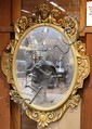 Renaissance Revival giltwood carved mirror