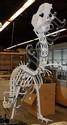 Painted metal sculpture,