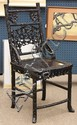 Chinese Prunus Patterned Export Side Chair