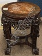 Chinese Circular Export  Wood and Marble Stand