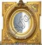 Victorian gilt wall mirror