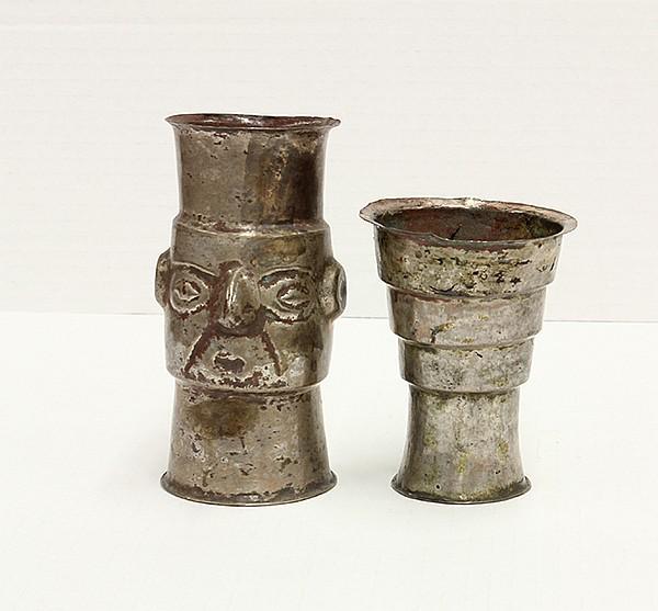 Silver beakers, Peru, 1200 - 1500 AD