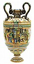 Italian Urbino maiolica vase attributed to the Fontana workshop