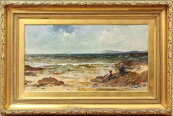 Painting, Edwin Ellis, At the Seashore