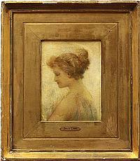 Painting, attributed to Louis Loeb, Portrait of a